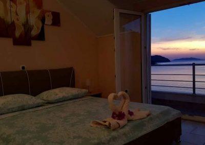 Romantic sunset apartment